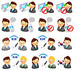 Business People Adviser Icon And Various Business Man And Woman. Creative Icon Design Series stock vector