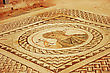 Ancient Mosaic In Kourion, Cyprus. stock photo