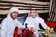 Stock Photo : Men Stock Photo: Arab Men Setting In Traditional Tent