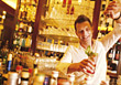 Bartender Pouring Drink, Smiling