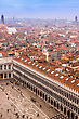 Beautiful Venice From The Air. Cityscape Panorama stock photography