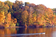 Stock Photo : Lake Stock Photography: Boat on the Lake in the Fall