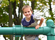 Stock Photo : Smiling Stock Image: Boy at Playground