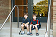 Stock Photo : Children Stock Photo: Boys Ready for School