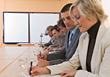 Stock Photo : Conference Table Pictures: Business People Sitting at Conference Table