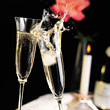 Stock Photo : Celebrate Stock Photography: Champagne Glasses Toasting