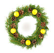 Wreath Christmas Green Framework stock photography