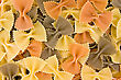 Italy Close Up Of Uncooked Multi-colored Italian Macaroni stock photography
