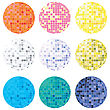 Collection Of Disco Globes In Many Colors For Personalized Design, Isolated Vector Objects