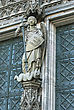 Cologne Cathedral Statue, Central Figure Of St Michael Vanquishing The Devil stock image
