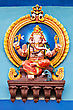 Religious Color Ganesha Statue On The Temple, India stock image