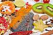 Colorful Spices - Beautiful Kitchen Image. - stock image