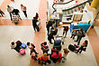 Stock Photo : Packing Stock Photography: Crowd Of People Packing Their Luggage In The Airport