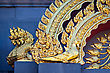 Decoration With Golden Dragons On The Wall stock photo