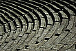Stock Photo : Historic Stock Image: Detail Of Seats At Ancient Greek Amphitheater Of Epidaurus At Sunny Summer Day.