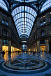 Dome Of The Historical Galleria Umberto Primo In The Centre Of Naples Italy - stock photography