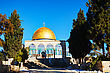 Historic Dome Of The Rock Mosque In Jerusalem, Israel stock photo