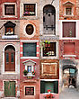 Italy Doors And Windows Collection stock image