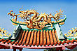 Decor Dragon At Kuan Yin Temple stock image