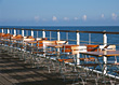 Stock Photo : Baltic Sea Stock Photography: Empty Tables &amp; Chairs By The Sea, Heringsdorf, Usedom, Germany