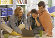 Stock Photo : Children Pictures: Family Using Laptop