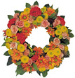 Flower Wreath stock photo