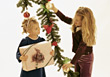 Stock Photo : Children Pictures: Girls with Christmas Present
