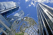 Business Globe At The Columbus Circle In New York City stock photography
