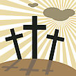 Good Friday Easter Day Crosses, Vector Illustration.