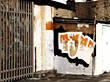 Stock Photo : Urban Stock Photo: Graffiti Wall &amp; Iron Gate