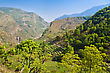 Green Terraces, Annapurna Conservation Area, Nepal stock photo