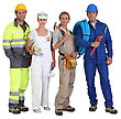 Smiling Group Of Workers - stock photography