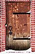 Grunge Door Of The Church stock image