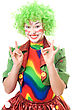 Stock Photo : Performance Theatrical Stock Photo: Happy Female Clown.