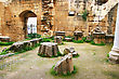 Historic Bellapais Abbey In Kyrenia, Northern Cyprus, Was Built Between 1198-1205, It Is The Most Beautiful Gothic Building In The Near East. stock photo