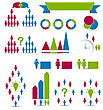 Business People Illustration Set Human Infographic Design Elements - Vector stock vector