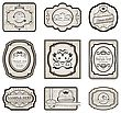 Illustration Set Retro Variation Vintage Labels (5) - Vector