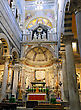 Indoor Interior Of Cathedral Duomo On Miracoli Square Of Miracles In Pisa, Italy stock photography