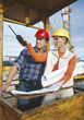 Stock Photo : Adult Stock Photography: Inspecting the Construction Site