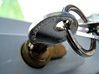 Stock Photo : Security Stock Photography: Key Inserted Into Lock