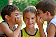 Stock Photo : Kid Pictures: Kids Telling Secrest