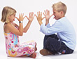 Kids with Teasing Gestures and Expression stock photo