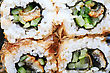 Stock Photo : Rice Stock Image: Macro Set Of Four Sushi With Tuna