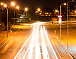 Modern City Highway At Night. stock image