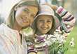 Mother and Daughter Allergy Free stock image