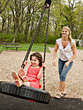 Children Mother and Daughter Having Fun stock image