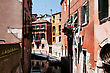 Bridges One Of The Many Canals Of Venice, Italy stock photography