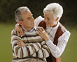 Retiring old poses people couples elder mature stock photo