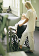 professionals old caregiver people elder patients - stock photo