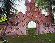Pink castle - stock image